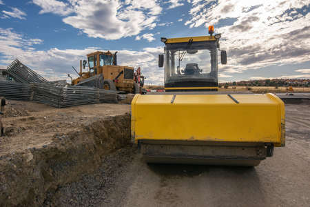 Machinery specialized in construction in road repair work