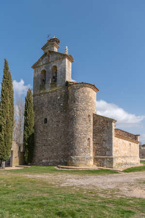 Church of the Assumption of Our Lady in the town of Castillejo de Mesleon in the province of Segovia (Spain)