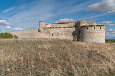 The historic and famous castle of Cuellar in the province of Segovia (Spain)
