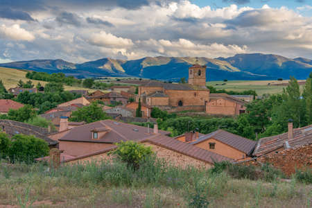 Landscape of the town of Estebanvela in the Ayllon region (Segovia) Stock fotó