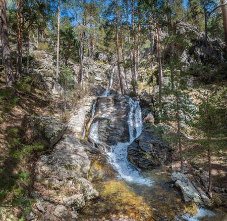 La Chorranca in the mountains of Valsain in the province of Segovia, belong to the Sierra de Guadarrama Stock fotó