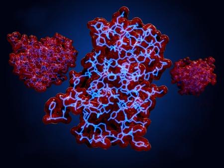 insulin molecules Foto de archivo
