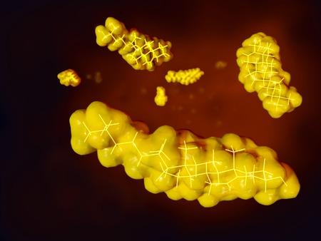 Cholesterol molecules Фото со стока