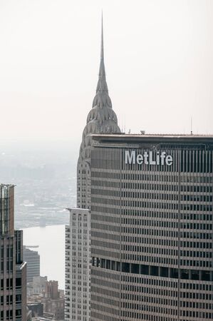 New York Usa, view from the top of the rock of Metlife building