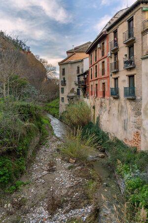 Darro River in Granada, next to the Alhambra