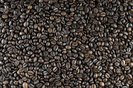 Background of toasted coffee beans