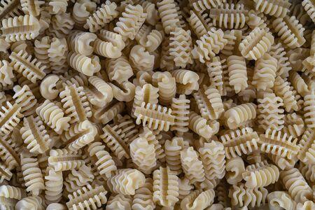 background of Italian pasta spirals