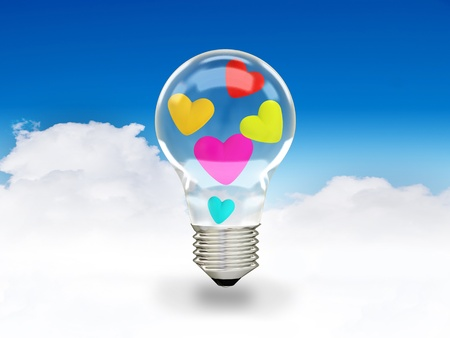 hearts and bulb