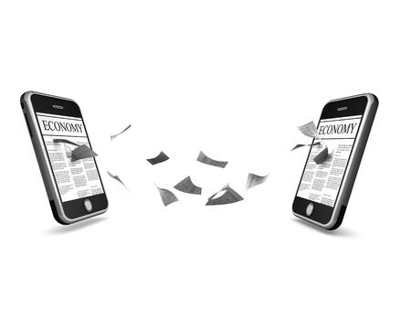 smartphone comunication Standard-Bild