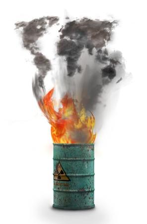 humo: imagen en 3d Stock Photo