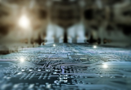 picture of electronic circuit Banco de Imagens