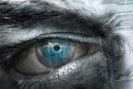 picture eye chip Standard-Bild