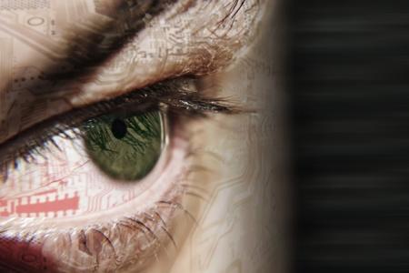 imagen de los ojos verdes