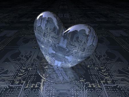 computer heart photo