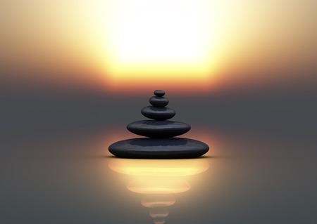 zen stones for meditation and relax Standard-Bild