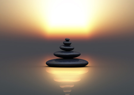 zen stones for meditation and relax Banco de Imagens