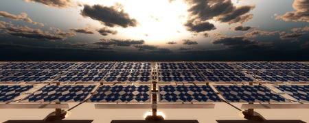 concept illustration of sustainable energy solar panels
