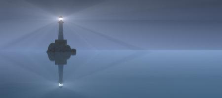 lighthouse illuminating the coast