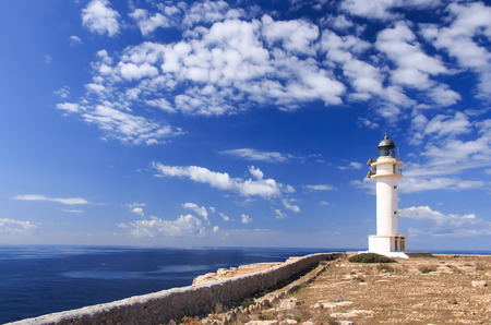 formentera: formentera lighthouse in spain