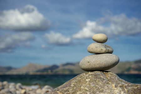 zen stones concept in majorca