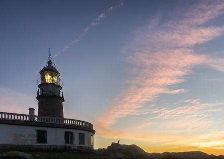galician: galician lighthouse in spain