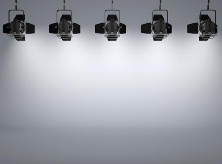 spotlight white background: studio and spotlights with background illuminated