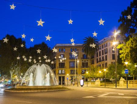 Plaza de la Reina in Mallorca with Christmas decorations