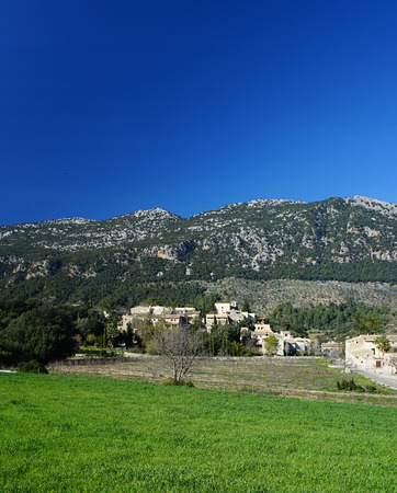 orient: Tramuntana mountains and orient village in Majorca, Spain