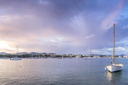 colom: porto colom bay in balearic islands