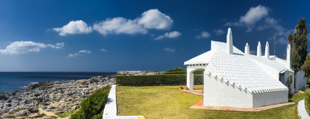 menorca: house with traditional architecture in menorca