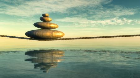pierres zen concept 3d Banque d'images
