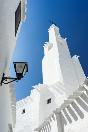 menorca: binibeca traditional fishing village in Menorca