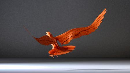 eagle flying: 3d illustration of Eagle flying in the white room