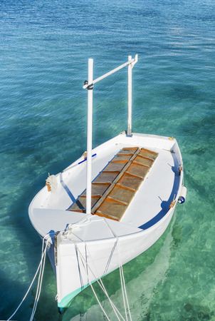 majorca: 3d illustration of llaud traditional boat in the Balearic Islands, Spain Stock Photo