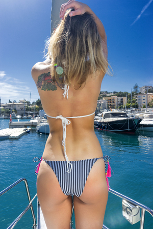 Sailboat bikini photos