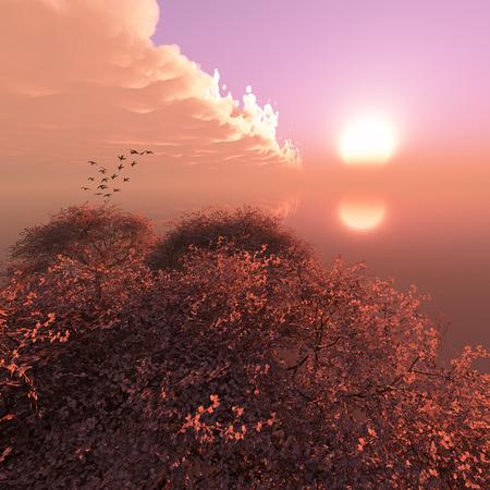 アーモンドの花の 3 d イラストレーション