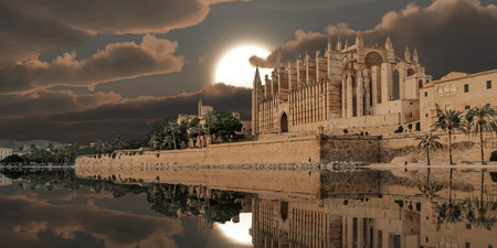 majorca: 3d illustration of the cathedral of mallorca alternative