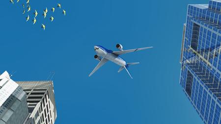 3d illustration of  passenger plane