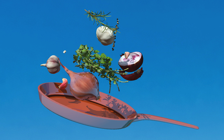 3d illustration of vegetables