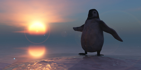 antarctic: 3d illustration of a  penguin Stock Photo