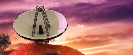 3d illustration of astronomical antennas