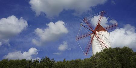 old windmill on the island of menorca