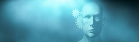 3d illustration of the concept of thought, psychology and ideas