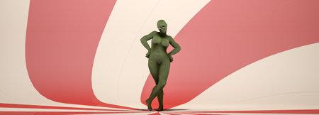 3d illustration of a model of human body parts Standard-Bild