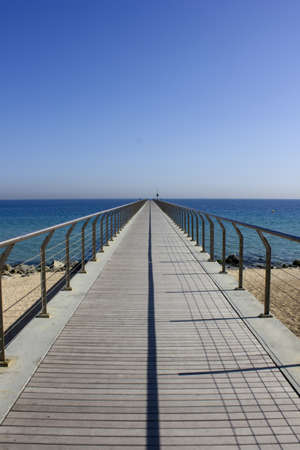 The bridge of oil, was used to unload tankers arriving in Badalona. Is now a place to walk