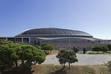 BARCELONA - October 25: The Palau Sant Jordi on October 25, 2011 in Barcelona, Spain