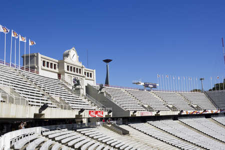BARCELONA - October 25: Montjuic Lluis Companys Olympic Stadium on October 25, 2011 in Barcelona, Spain Editorial