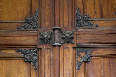 close-up of an ancient door photo