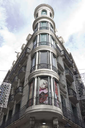 Gothic building and emblematic streets of Barcelona