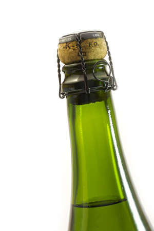 Bottle of Cava ready to bring Christmas photo